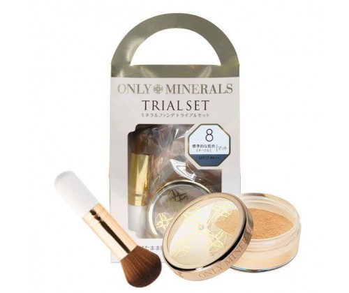 Only Minerals Trial Set( SPF17+ PA+++  (迷你掃 + 2.5g 礦物粉 [ 8號色] )